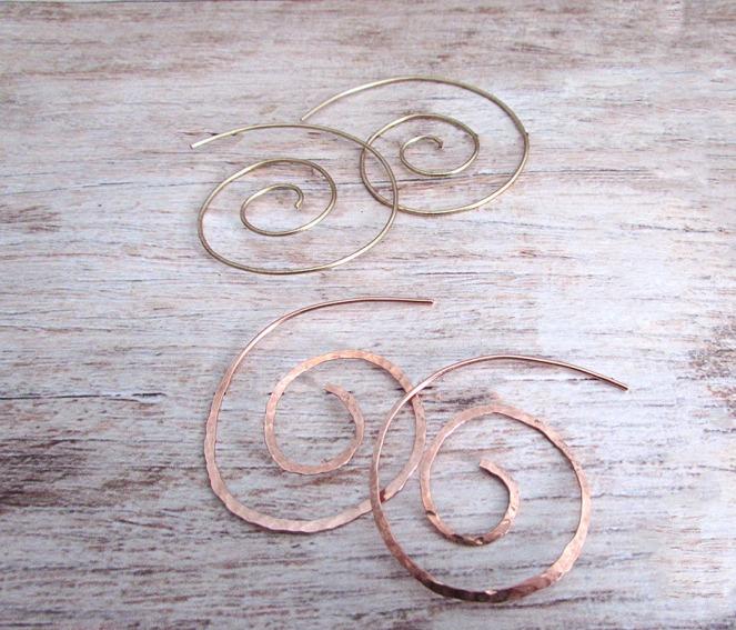 Finished Spirals Laid Flat