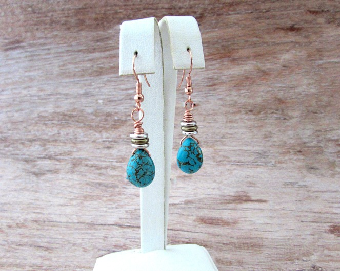 Turquoise Drop Earrings 1