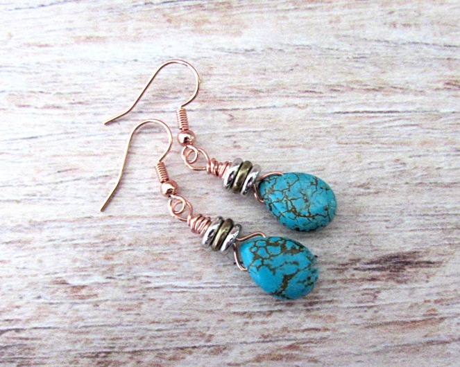 Turquoise Drop Earrings 7