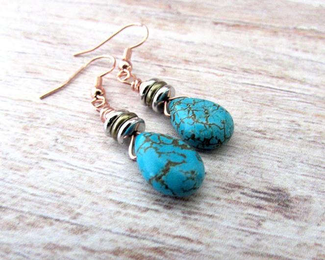 Turquoise Drop Earrings 8